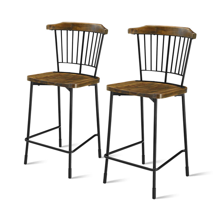 Greco Counter Stool - Set of 2 by New Pacific Direct - 9300044