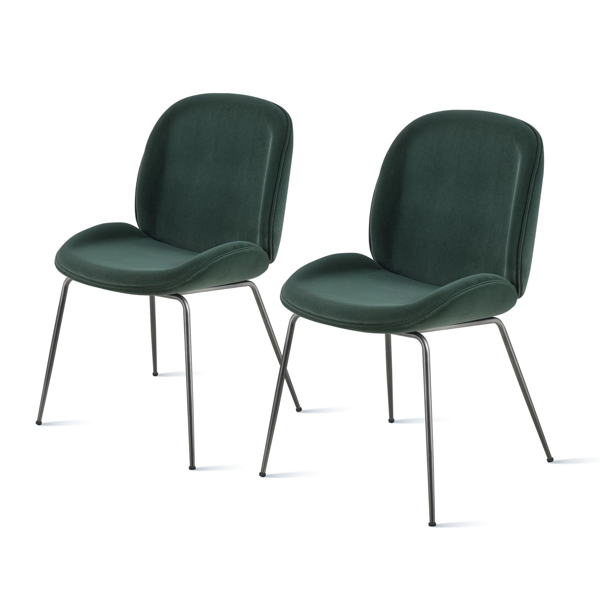 Lucy Velvet Fabric Chair - Set of 2 by New Pacific Direct - 9300051