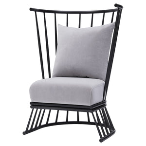 Jupiter Velvet Metal Accent Chair by New Pacific Direct - 9300053-514