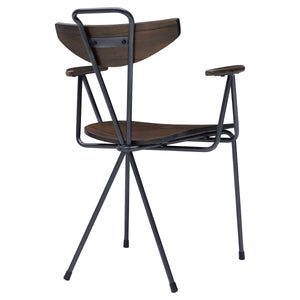 Wagner Metal Arm Chair - Set of 2 by New Pacific Direct - 9300068