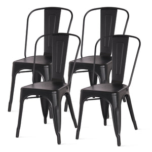 Metropolis Metal Side Chair - Set of 4 by New Pacific Direct - 938233
