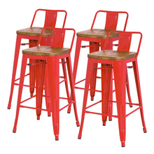 Metropolis Low Back Bar Stool - Set of 4 by New Pacific Direct - 938537