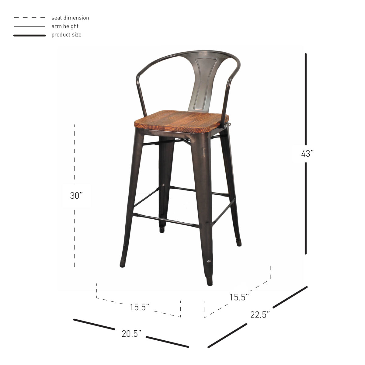 Incredible Metropolis Metal Bar Stool Set Of 4 By New Pacific Direct Caraccident5 Cool Chair Designs And Ideas Caraccident5Info