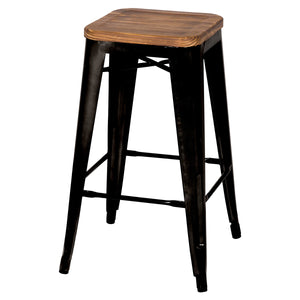 Metropolis Backless Counter Stool - Set of 4 by New Pacific Direct - 938627