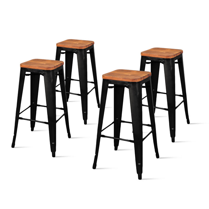 Metropolis Backless Bar Stool - Set of 4 by New Pacific Direct - 938631
