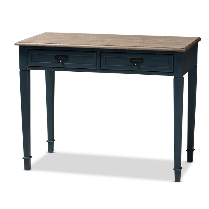 Baxton Studio Dauphine French Provincial Spruce Blue Accent Writing Desk Baxton Studio-Desks-Minimal And Modern - 1