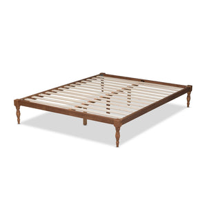 Baxton Studio Iseline Modern and Contemporary Walnut Brown Finished Wood Full Size Platform Bed Frame