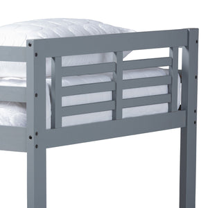 Baxton Studio Liam Modern and Contemporary Grey Finished Wood Twin Size Bunk Bed