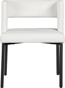 Meridian Furniture Caleb White Faux Leather Dining Chair - Set of 2