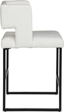 Meridian Furniture Caleb White Faux Leather Counter Stool - Set of 2