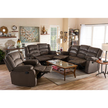 Baxton Studio Hollace Modern and Contemporary Taupe Microsuede Sofa Loveseat and Chair Set with 5 Recliners Living room Set Baxton Studio--Minimal And Modern - 6