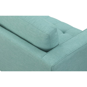 Manhattan Comfort Arthur 2-Seat Mint Green-Blue Tweed Loveseat