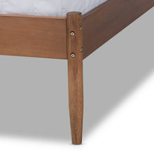 Baxton Studio Leanora Mid-Century Modern Ash Wanut Finished Queen Size Wood Platform Bed