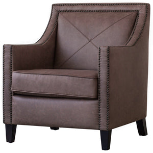David PU Leather Nailhead Arm Chair by New Pacific Direct - 9900031