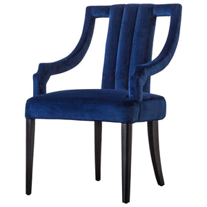 Viola Velvet Fabric Klismos Chair by New Pacific Direct - 9900033