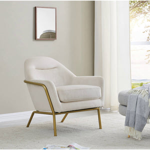 Aurelia Velvet Fabric Accent Chair by New Pacific Direct - 9900063