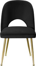 Meridian Furniture Logan Black Velvet Dining Chair - Set of 2