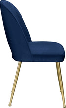 Meridian Furniture Logan Navy Velvet Dining Chair - Set of 2