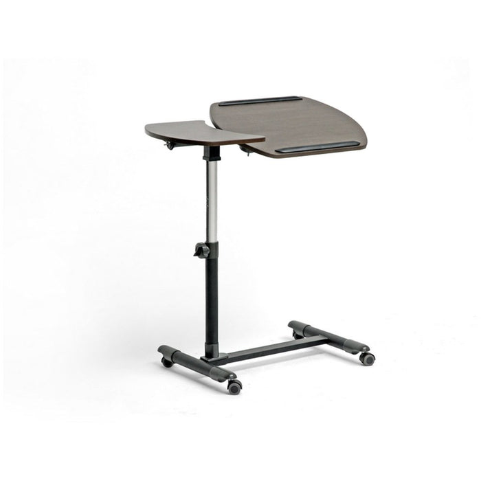 Baxton Studio Olsen Brown Wheeled Laptop Tray Table with Tilt Control Baxton Studio-Desks-Minimal And Modern - 1