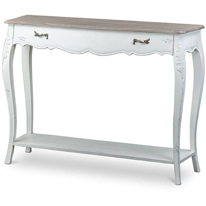 Baxton Studio Bourbonnais Wood Traditional French Console Table Baxton Studio-side tables-Minimal And Modern - 1