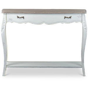 Baxton Studio Bourbonnais Wood Traditional French Console Table Baxton Studio-side tables-Minimal And Modern - 2
