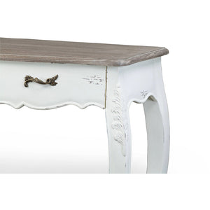 Baxton Studio Bourbonnais Wood Traditional French Console Table Baxton Studio-side tables-Minimal And Modern - 3