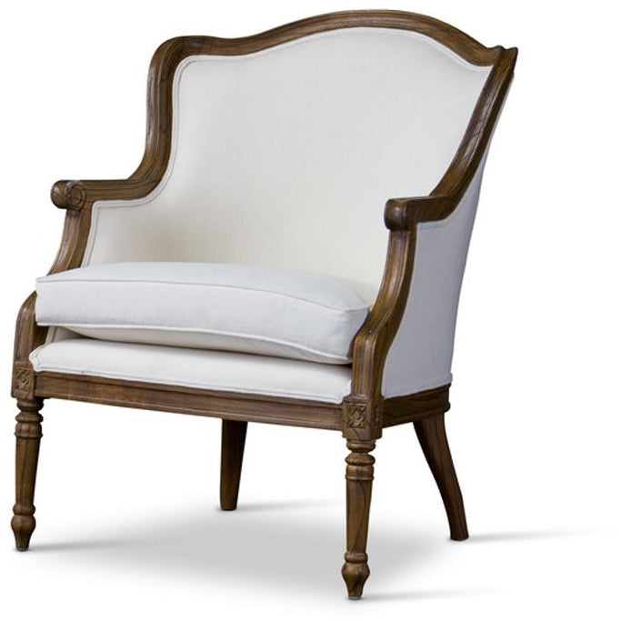 Baxton Studio Charlemagne Traditional French Accent Chair- Baxton Studio-chairs-Minimal And Modern - 1