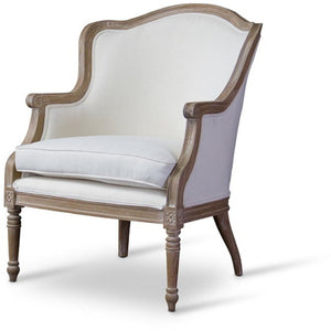 Baxton Studio Charlemagne Traditional French Accent Chair-Oak Baxton Studio-chairs-Minimal And Modern - 1