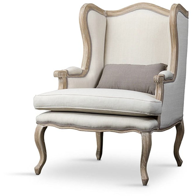 Baxton Studio Auvergne Wood Traditional French Accent Chair Baxton Studio-chairs-Minimal And Modern - 1