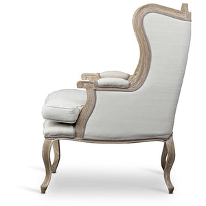 Baxton Studio Auvergne Wood Traditional French Accent Chair Baxton Studio-chairs-Minimal And Modern - 3