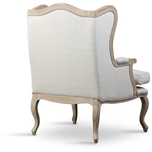 Baxton Studio Auvergne Wood Traditional French Accent Chair Baxton Studio-chairs-Minimal And Modern - 4