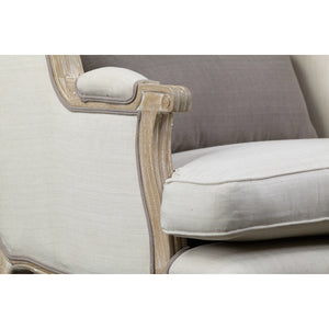 Baxton Studio Auvergne Wood Traditional French Accent Chair Baxton Studio-chairs-Minimal And Modern - 5