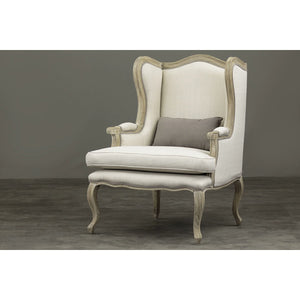 Baxton Studio Auvergne Wood Traditional French Accent Chair Baxton Studio-chairs-Minimal And Modern - 7