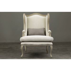 Baxton Studio Auvergne Wood Traditional French Accent Chair Baxton Studio-chairs-Minimal And Modern - 8