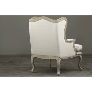 Baxton Studio Auvergne Wood Traditional French Accent Chair Baxton Studio-chairs-Minimal And Modern - 9