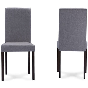 Baxton Studio Andrew Contemporary Espresso Wood Grey Fabric 5PC Dining Set Baxton Studio--Minimal And Modern - 3