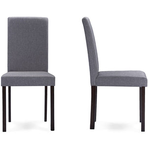 Baxton Studio Andrew Contemporary Espresso Wood Grey Fabric 5PC Dining Set Baxton Studio--Minimal And Modern - 4
