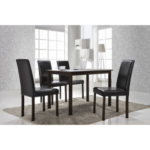 Baxton Studio Andrew 5-Piece Modern Dining Set Baxton Studio--Minimal And Modern - 1