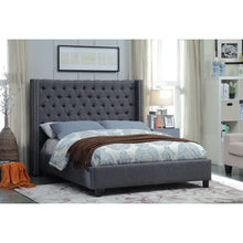 Meridian Furniture Ashton Grey Linen Full Bed-Minimal & Modern