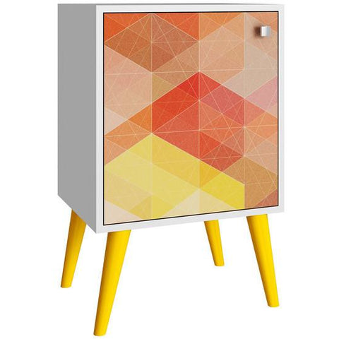 Funky Nightstands manhattan comfort funky avesta side table 1.0 with 2 shelves
