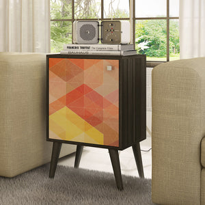 Manhattan Comfort Funky Avesta Side Table 1.0 with 2 Shelves-Minimal & Modern