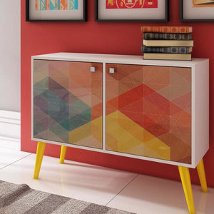 Manhattan Comfort Funky Avesta Side Table 2.0 with 3 Shelves-Minimal & Modern