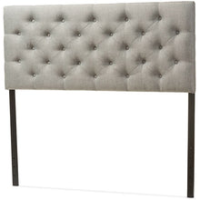 Baxton Studio Viviana Modern and Contemporary Grey Fabric Upholstered Button-tufted Queen Size Headboard Baxton Studio-Queen Headboard-Minimal And Modern - 2