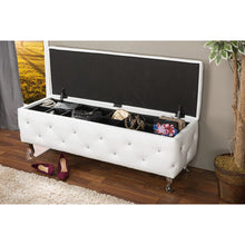 Baxton Studio Seine White Leather Contemporary Storage Ottoman Baxton Studio-benches-Minimal And Modern - 4