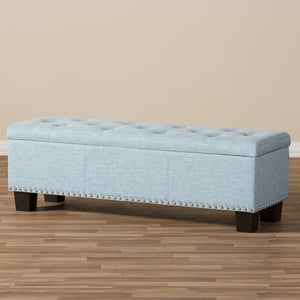 Baxton Studio Hannah Modern and Contemporary Light Blue Fabric Upholstered Button-Tufting Storage Ottoman Bench Baxton Studio-benches-Minimal And Modern - 10