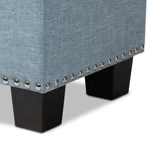 Baxton Studio Hannah Modern and Contemporary Light Blue Fabric Upholstered Button-Tufting Storage Ottoman Bench Baxton Studio-benches-Minimal And Modern - 7