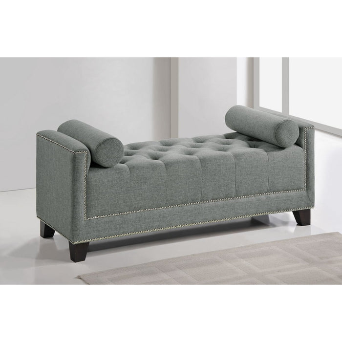 Baxton Studio Hirst Gray Bedroom Bench Baxton Studio-benches-Minimal And Modern - 1