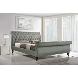 Baxton Studio Antoinette Grey Modern Platform Bed-Queen Baxton Studio-beds-Minimal And Modern - 1