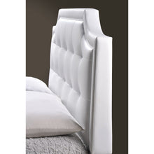 Baxton Studio Carlotta White Modern Bed with Upholstered Headboard - Full Size Baxton Studio-beds-Minimal And Modern - 5