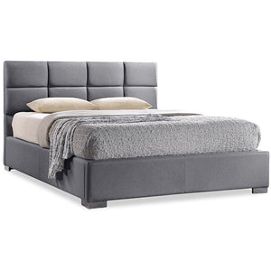 Baxton Studio Sophie Modern and Contemporary Grey Fabric Upholstered Full Size Platform Bed Baxton Studio-Full Bed-Minimal And Modern - 1